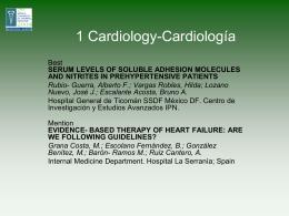 1 Cardiology-Cardiología