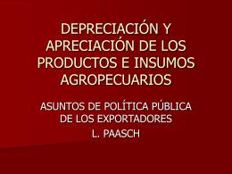 depreciación y apreciación de los alimentos