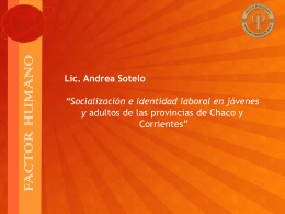 """""""Socialización e identidad laboral en jóvenes y"""