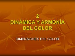 2 DINÁMICA Y ARMONÍA DEL COLOR