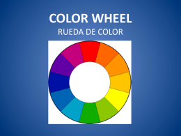 COLOR WHEEL RUEDA DE COLOR