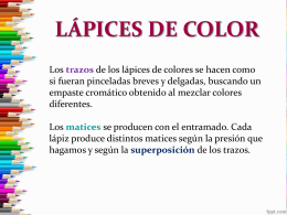 LÁPICES DE COLOR
