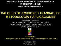 Cálculo de Emisiones Transables, Metodologías y Aplicación