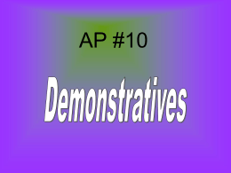 AP #10