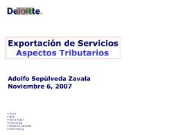 Aspectos Tributarios - Chilexporta Servicios