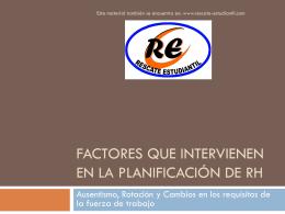 Factores que intervienen en la planificación de rh