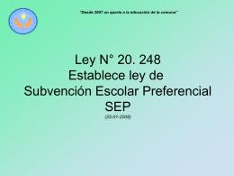 Presentación Ley SEP 2015 - Colegio Santa María Goretti