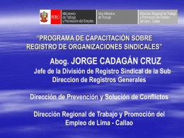 2. exposicion de sindicatos jorge cadagan