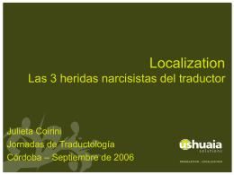 Localization Las 3 heridas narcisistas del traductor Trad. Julieta