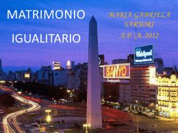 MATRIMONIO IGUALITARIO - Maria Gabriella Sartori, psicologa