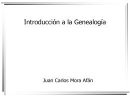 Introducción a la Genealogía