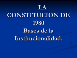 bases de la institucionalidad