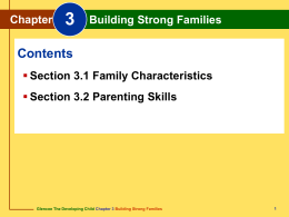 Chapter 3 Building Strong Families