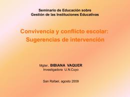 Archivo: Conferencia Bibiana Vaquer, en San Rafael