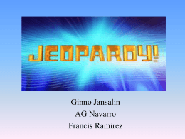Jeopardy - SeniorHW