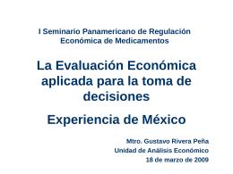 La Evaluación Económica en México