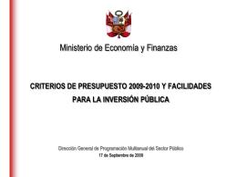 MEF - Ministerio de Energía y Minas