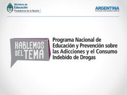 prevención - Ministerio de Educación