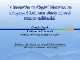 la presentación en power point de la ponencia de Claudio Sapelli