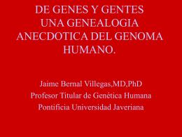 Historia y Perspectivas de la Genómica Doctor