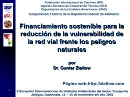 reforma financiera e institucional de la conservacion de vias publicas