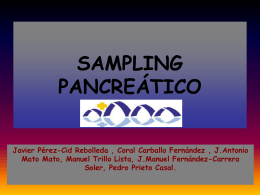 sampling pancreático