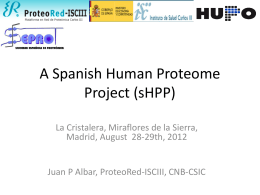 A SPANISH HUMAN PROTEOME PROJECT