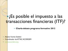 Diapositiva 1 - ATTAC Acordem