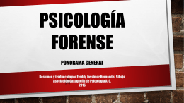 Psicología Forense: panorama general