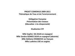 FRANCE Présentation Comenius