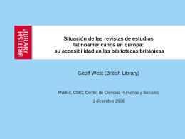 Revistas de estudios latinoamericanos y su accesibilidad en las