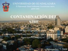 Contaminación del aire - Maestría en Ciencias de la Salud Ambiental