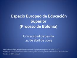 El Espacio Europeo de Educación Superior o