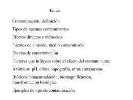 Teórica de contaminación