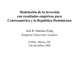 Modelación de la inversión con resultados