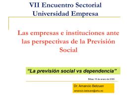 La previsión social vs dependencia