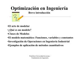 Modelos de Optimización