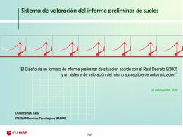 Análisis del informe preliminar de suelos
