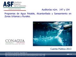 ASF – Auditorías de agua potable, alcantarillado y saneamiento