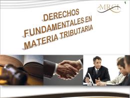 Derechos fundamentales en materia tributaria