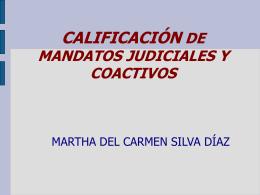 CALIFICACIÓN DE RESOLUCIONES JUDICIALES - sitrazr
