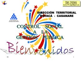 Edgar ControlSocial GP - juntas de acción comunal