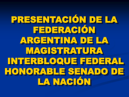 Descargar Power Point - Federación Argentina de la Magistratura