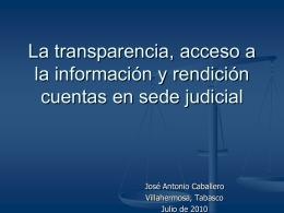 La transparencia y el acceso a la información judicial