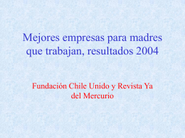 Mejores empresas para madres que trabajan, resultados 2004