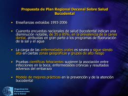 Propuesta de Plan Regional Decenal Sobre Salud
