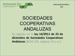COOPERATIVAS - Autonomía Sur