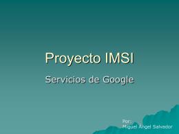 Presentación - lista de proyectos 2º esi