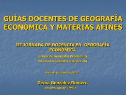 Diapositiva 1 - Asociación de Geógrafos Españoles