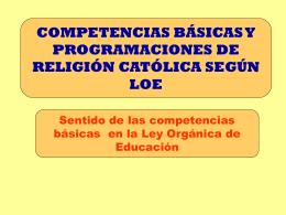 Presentación de PowerPoint - Delegación Enseñanza Religiosa